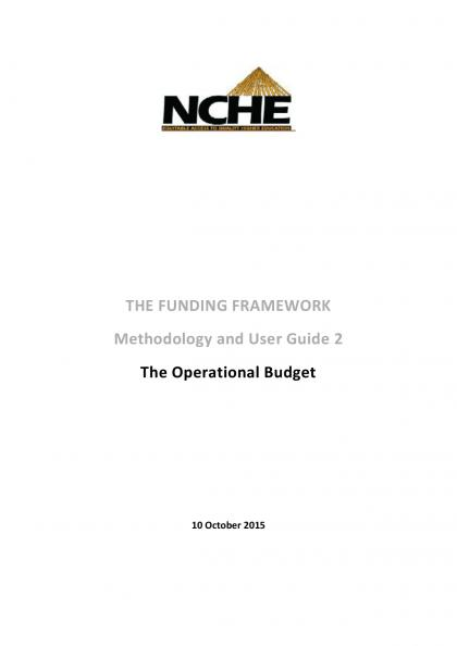 FF Methodology and User Guide 2 The Operational Costs
