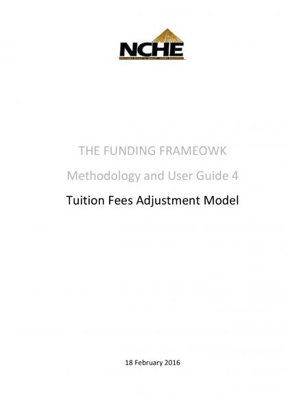 FF Methodology and User Guide 4 Tuition Fees Adjustment Model
