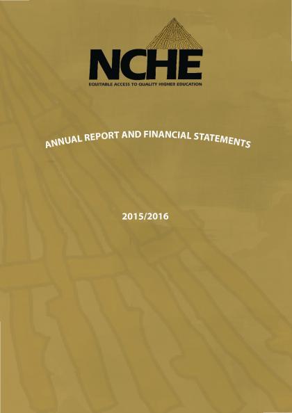 NCHE Annual Report 2015-2016